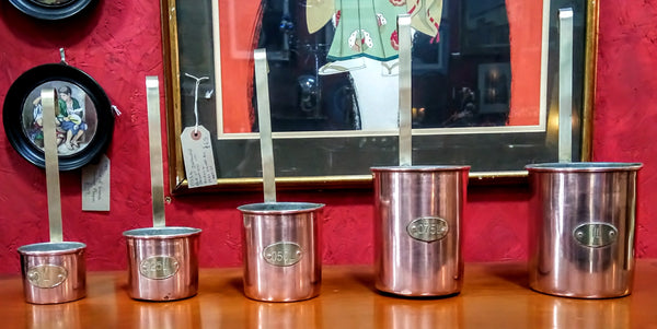 Vintage Copper Measuring Cup Set
