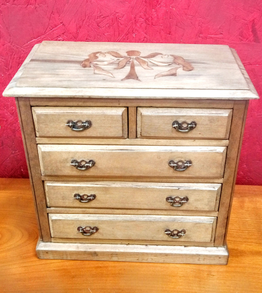 Miniature Inlaid Chest of Draws