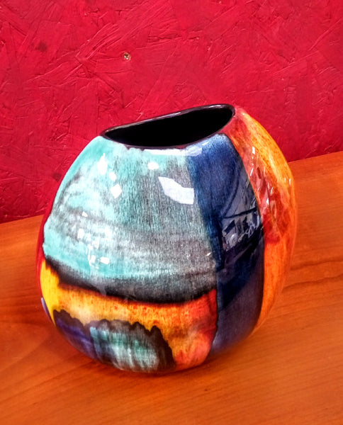 Poole Pottery Gemstone Purse Vase
