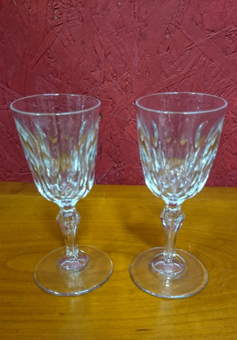 Pair of Early Victorian Port Glasses
