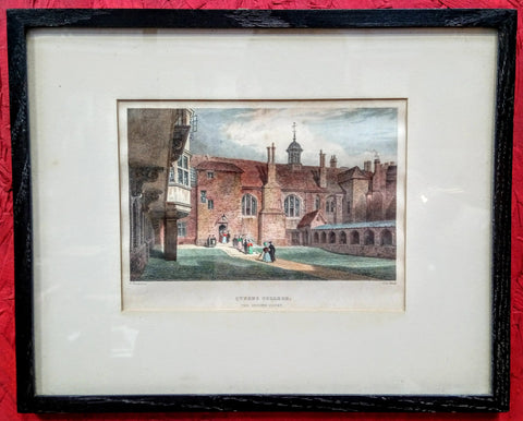 4 Early 1800's Engravings of Queens College