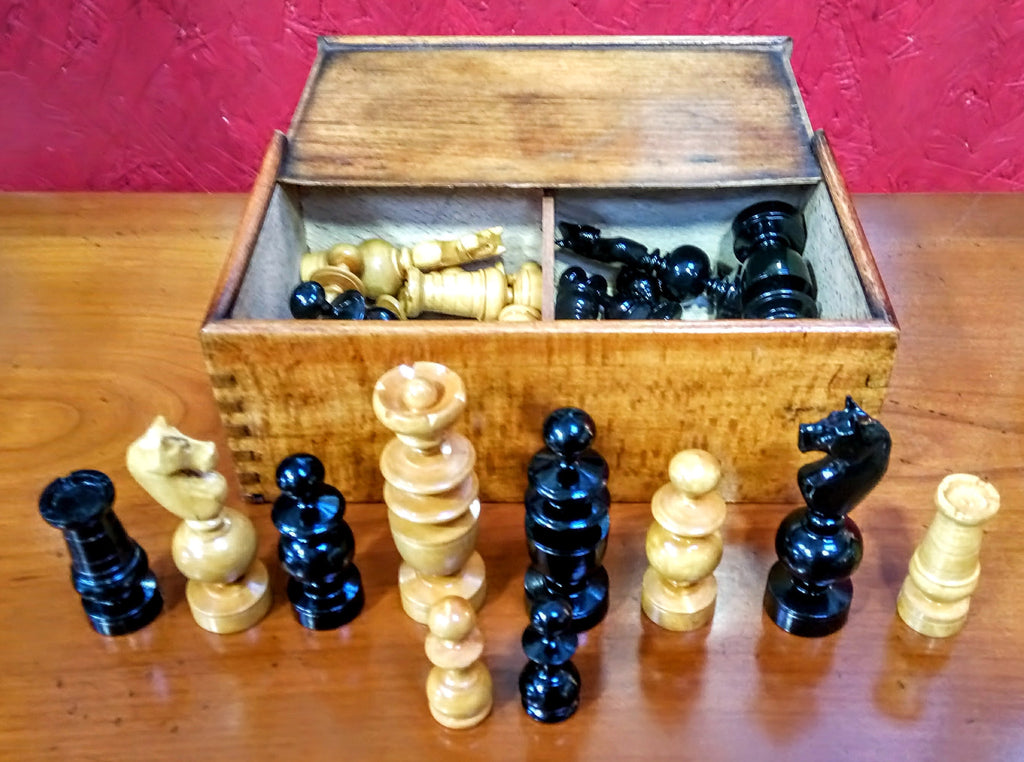 Vintage French Regency Style Chess Set