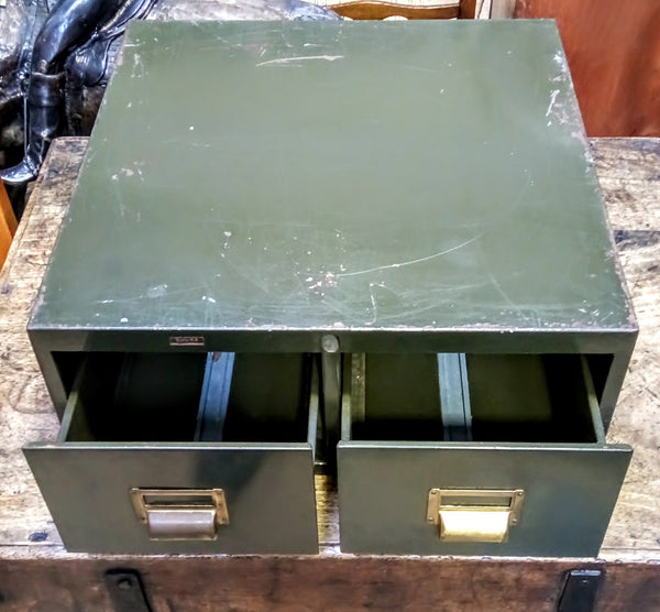 Roneo Twin Draw Indexing Cabinet
