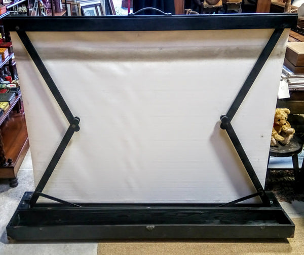 Vintage Pull Up Projector Screen in Carry Case
