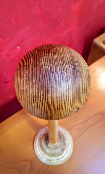 Vintage Wooden Wig Stand