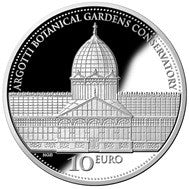 Iron and Glass 'Argotti Botanic Garden Conservatory' Silver Proof