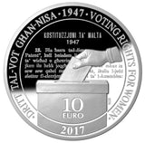 Voting Rights For Women 1947 - 2017 (Silver)