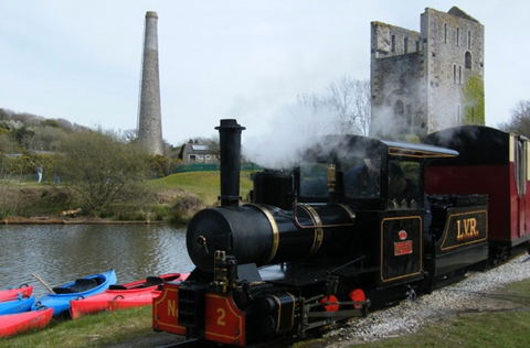Steam train at Lappa Valley
