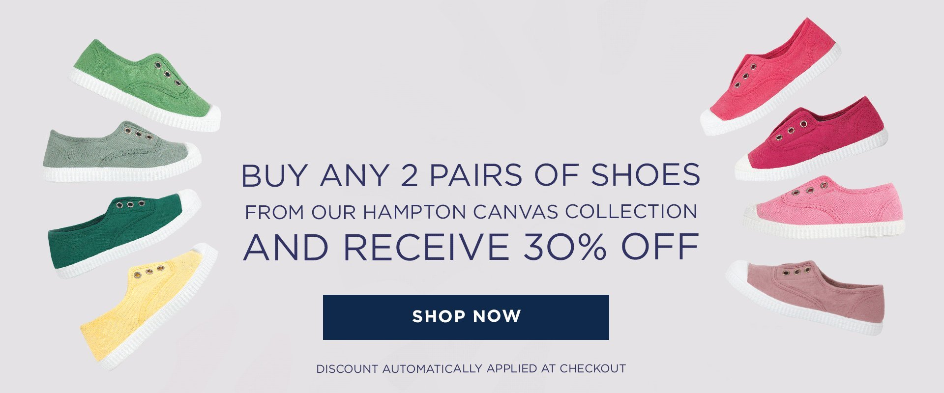 Hampton Canvas Plimsoll Shoes Sea Blue
