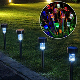 10 Piece LED Solar Lawn Lamps