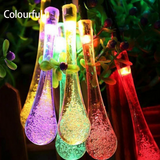 16 FT LED Crystal Water Drop Outdoor Lights