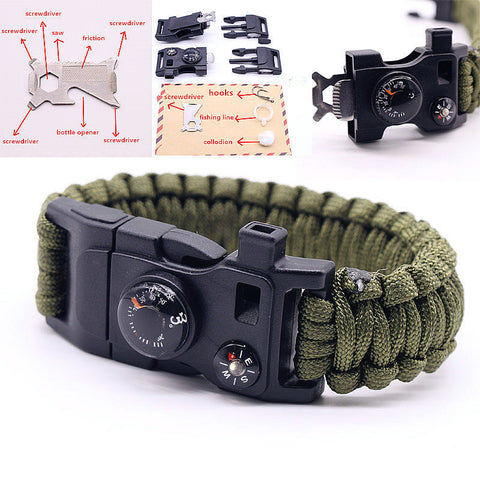 15 in 1 Multifuctional Outdoor Survival Bracelets