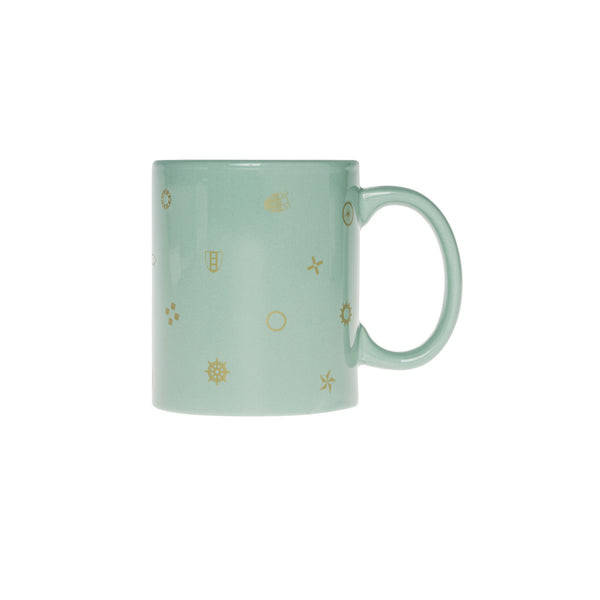 origin polka dot mug