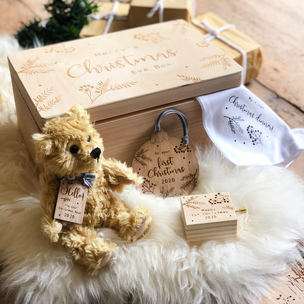 Personalised Baby's First Christmas Box
