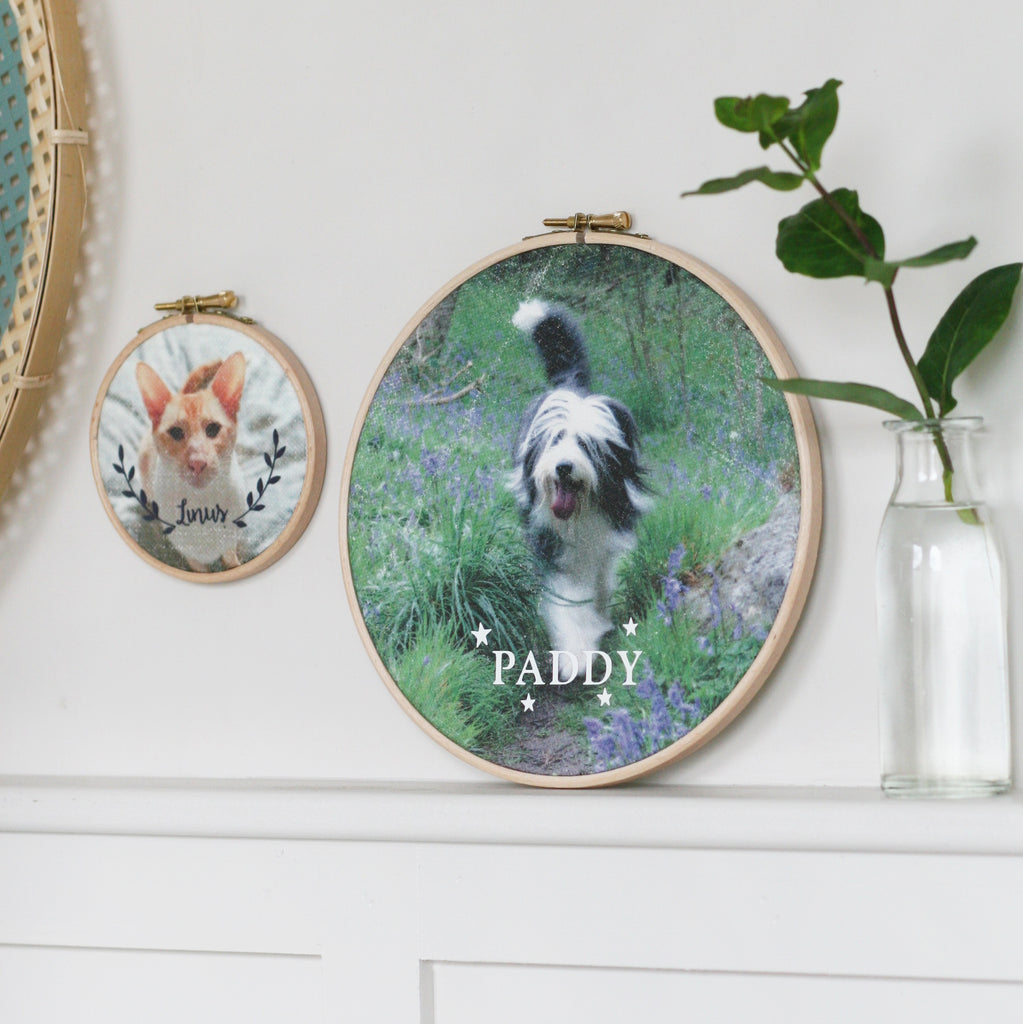 Personalised Pet Portrait Hoop