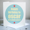 Personalised Age Birthday Card