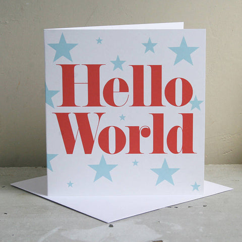 New Baby 'Hello World' Card