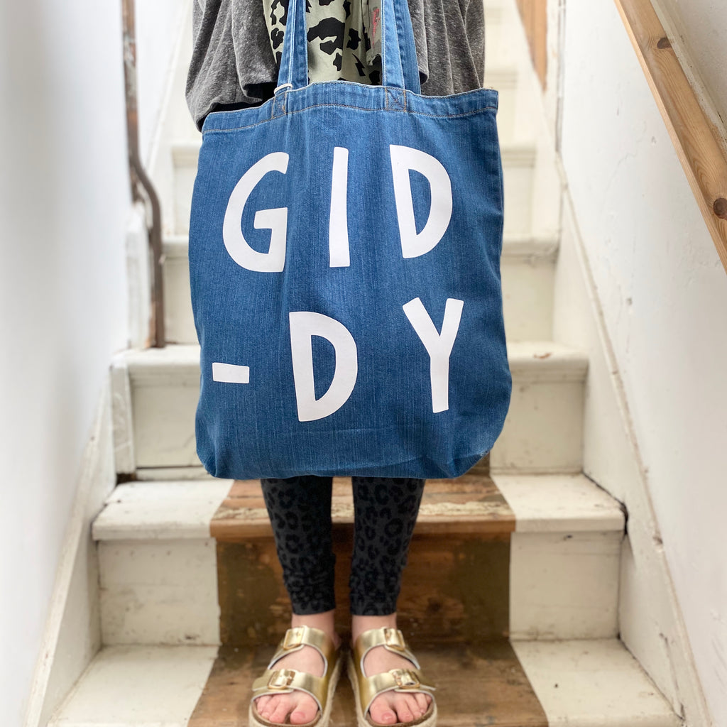 Denim Word Tote