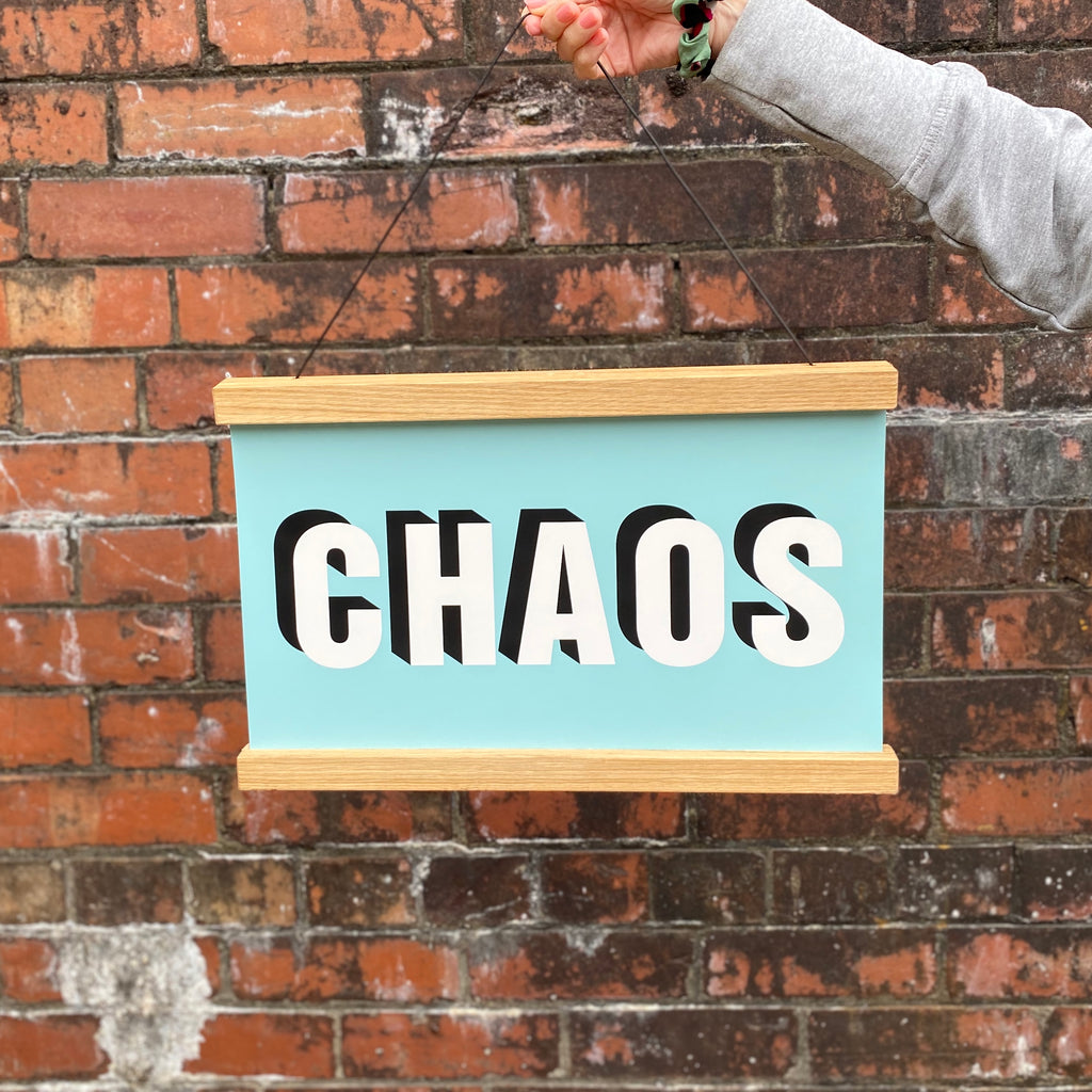 CHAOS Hanging Poster Print
