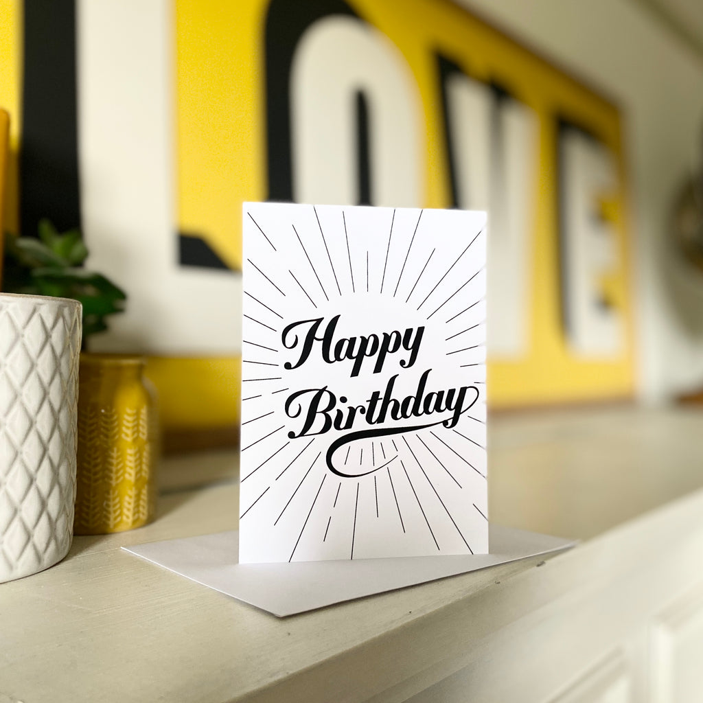 Happy Birthday Burst Card