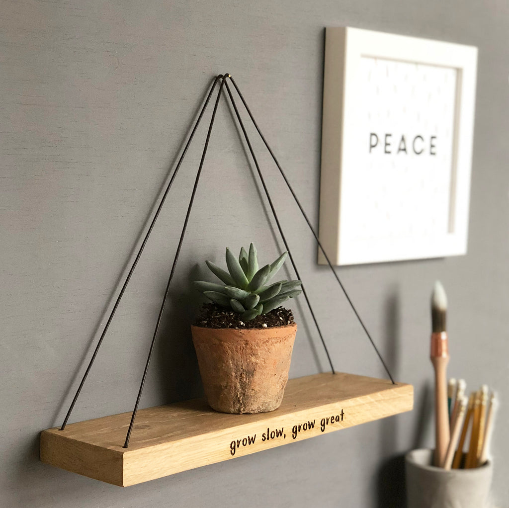 Mini Grow Slow Hanging Oak Shelf