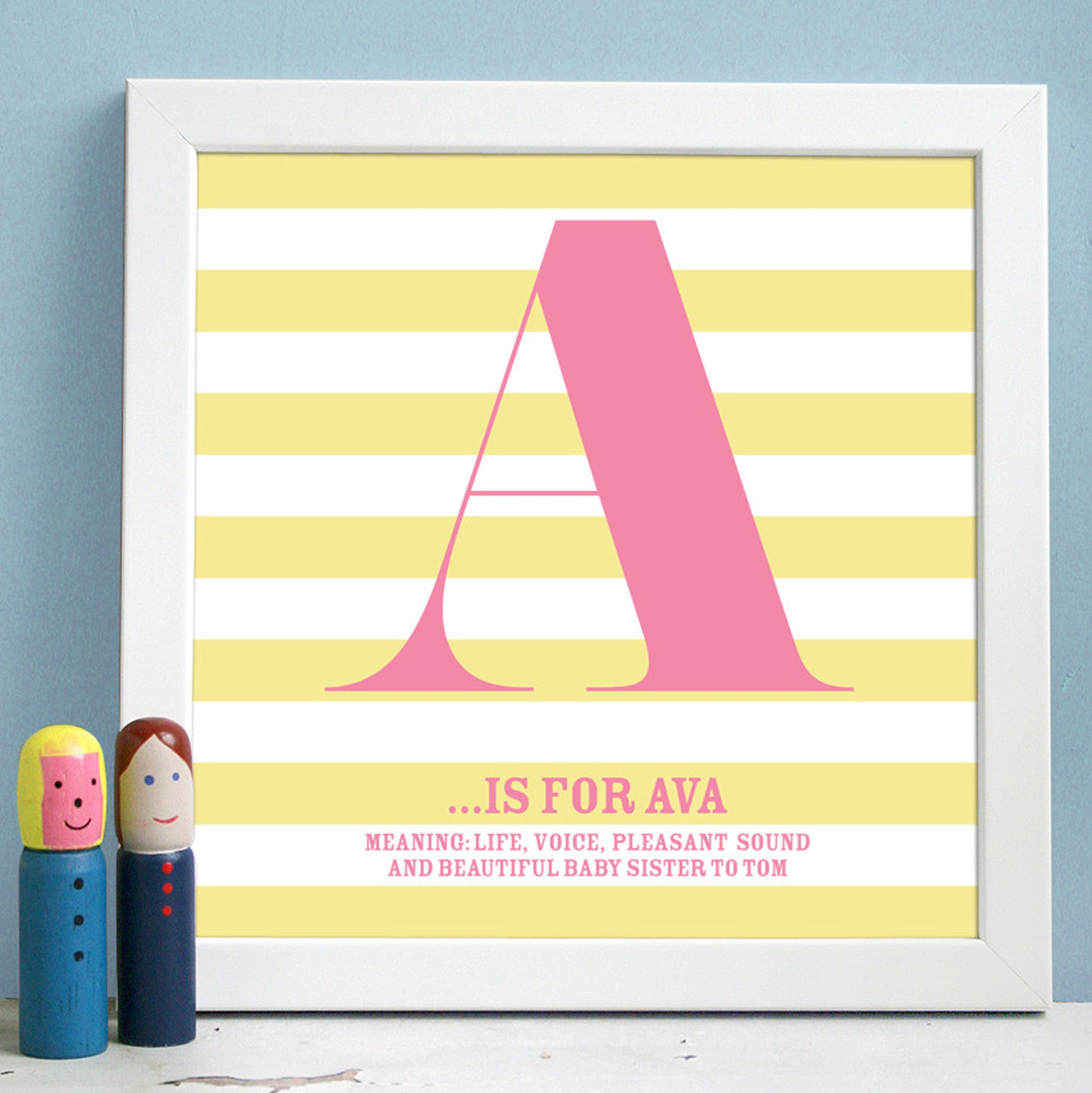 Personalised Framed Name Definition Print – Modo Creative
