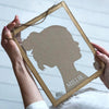 Personalised Silhouette Framed Portrait Print