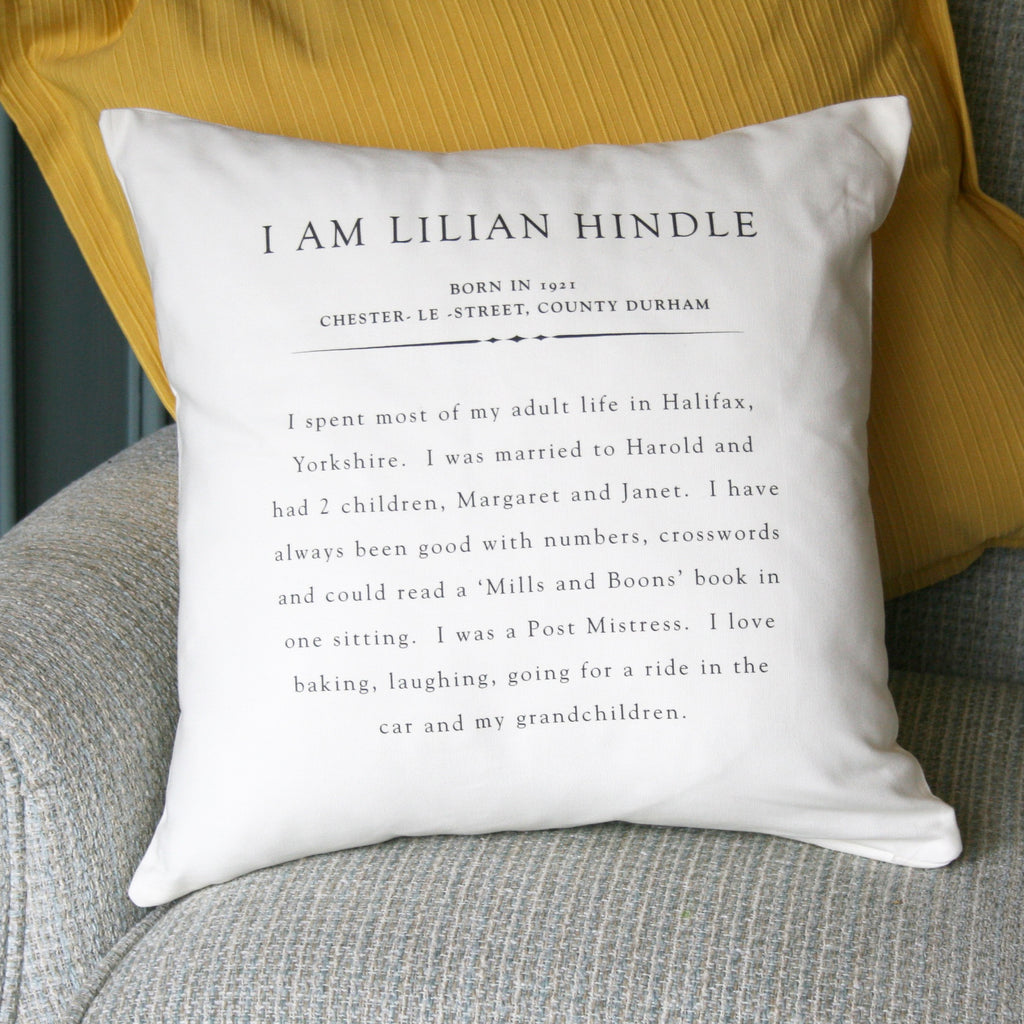 Personalised Alzheimers 'See Me' Cushion