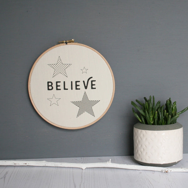 Geometric Believe Word Hoop Wholesale