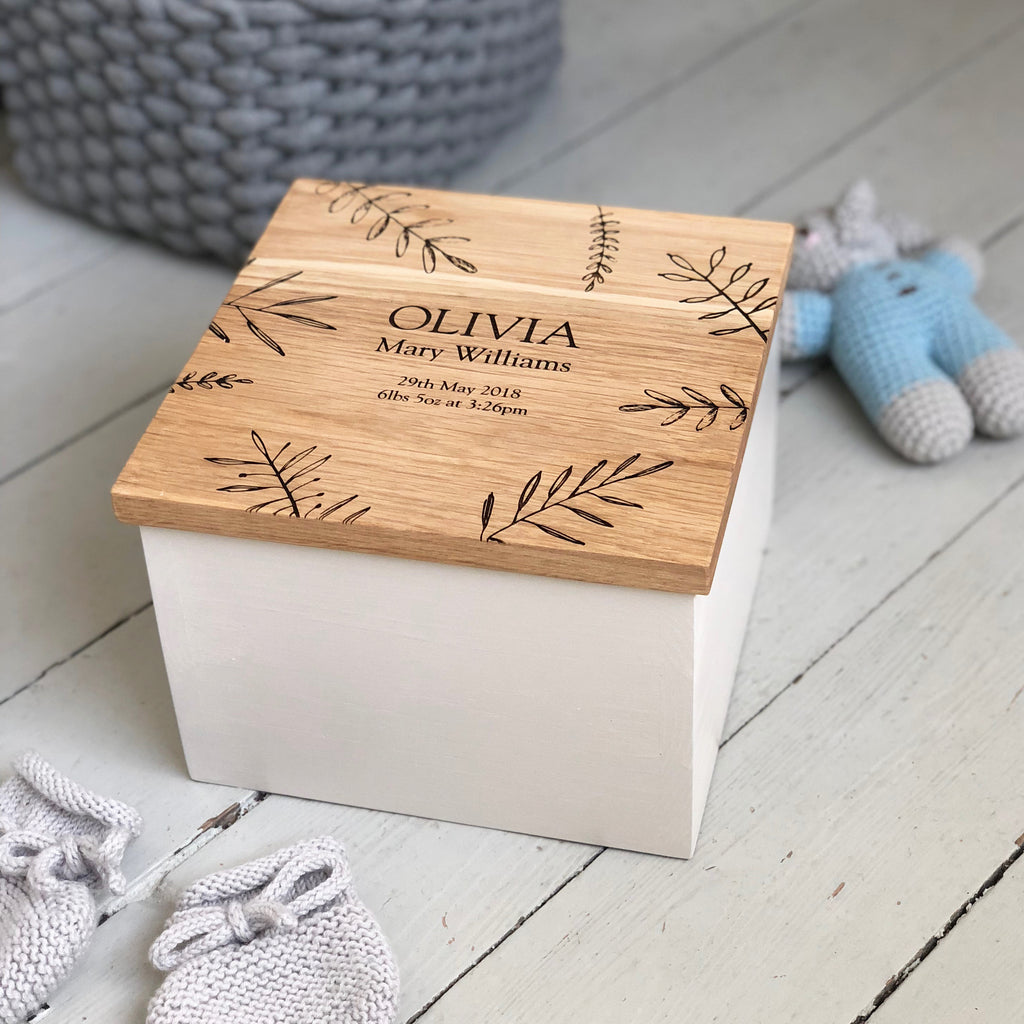 Bespoke Oak Baby Box
