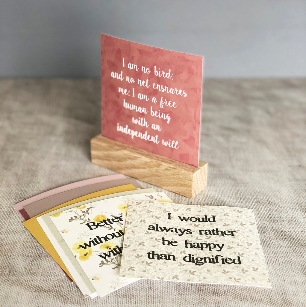 Brontë Quotes Prints With Oak Stand