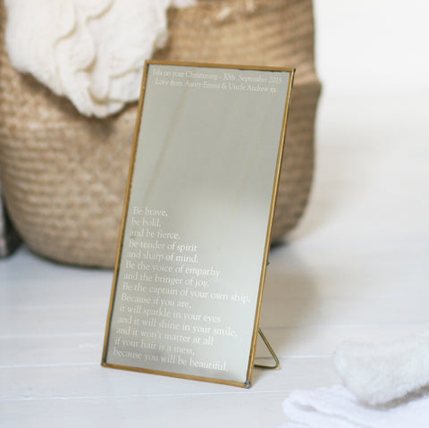 Personalised Copper Christening Mirror