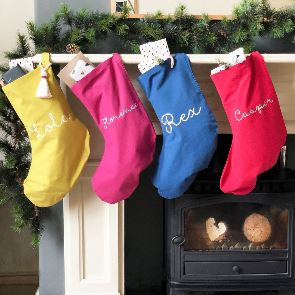 Merry And Bright Christmas Name Stockings