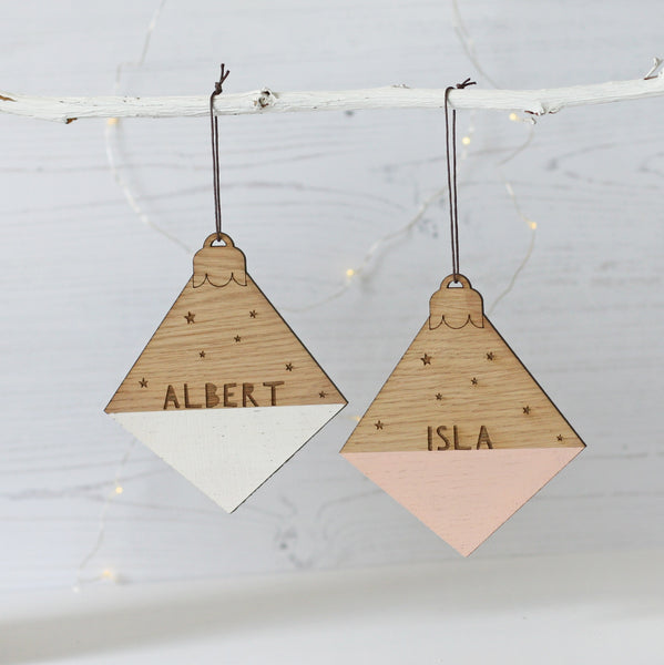 Personalised Diamond Name Christmas Decoration