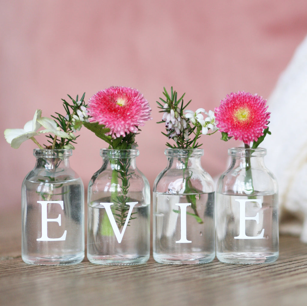 Personalised Flower Girl Bud Vase