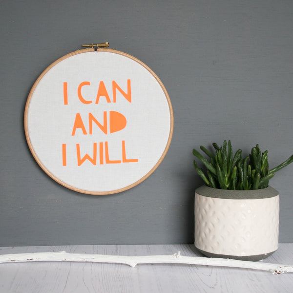 I Can and I Will Word Hoop Wholesale