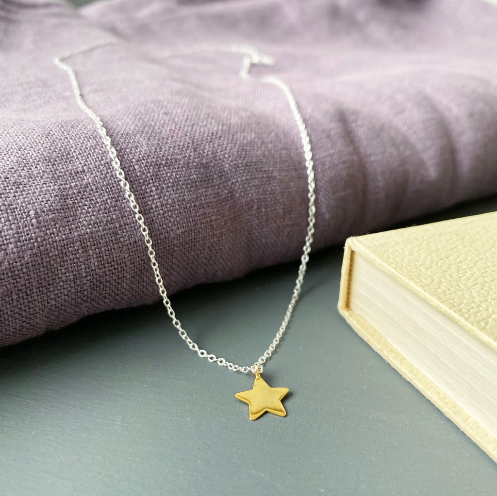 Silver and Gold Star Necklace