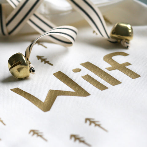 White and Gold Name Stocking