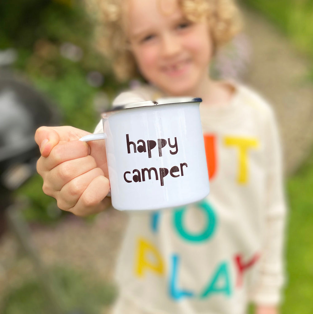 Enamel Mono Kids Mugs