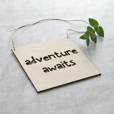 Small Wooden Adventure Sign
