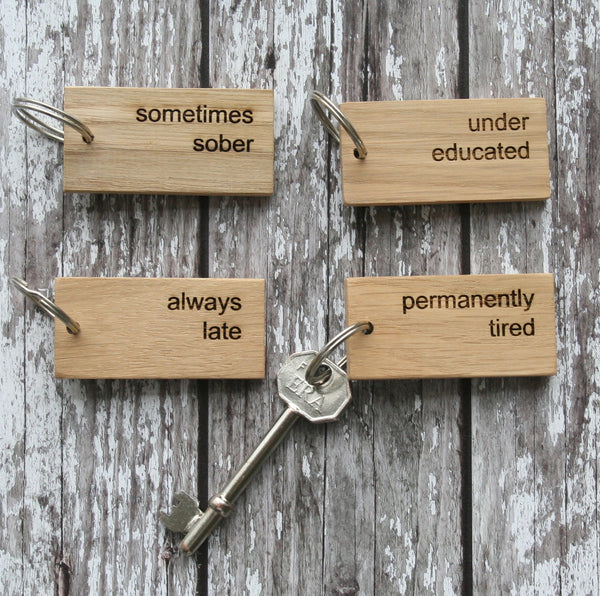 Oak Key Rings with 'Personality' Wholesale