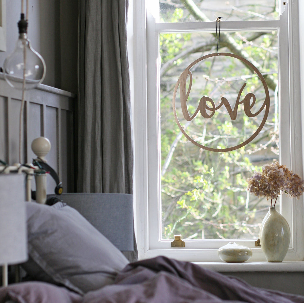 LOVE Window Hanging