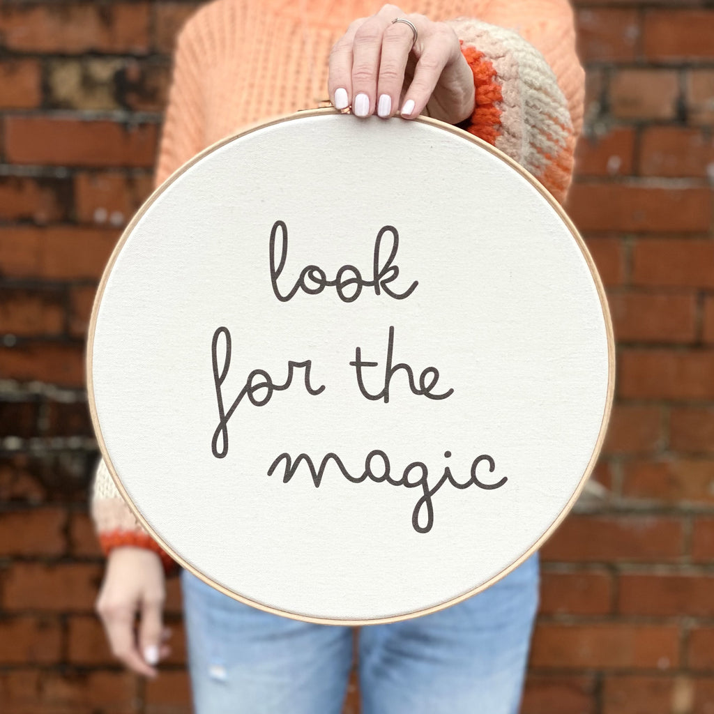Look for the Magic Wall Hoop