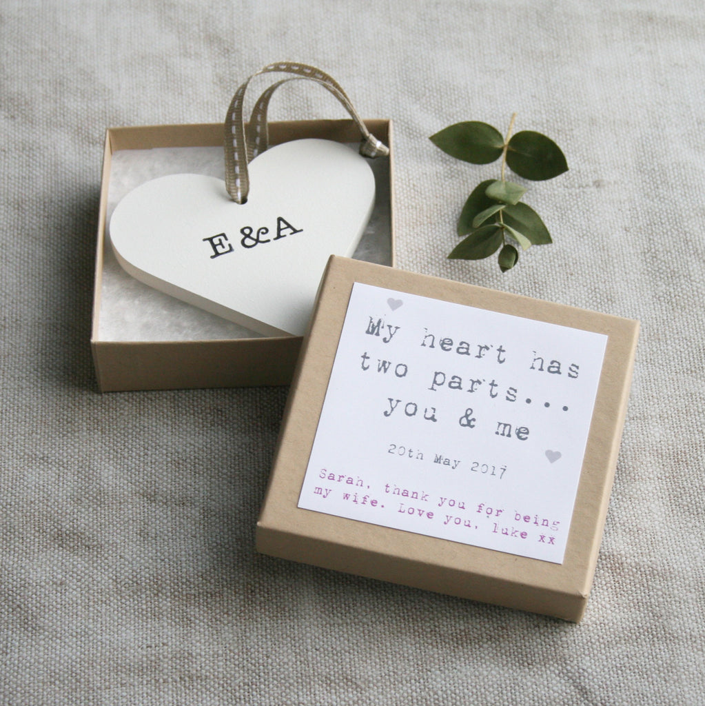 Personalised Bride/Groom Wedding Heart