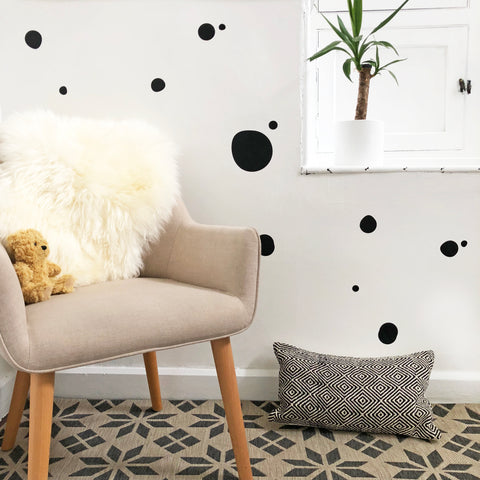 Circle Dotty Mono Wall Stickers