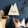 Wooden Musical Mountain Name Wall Hanging