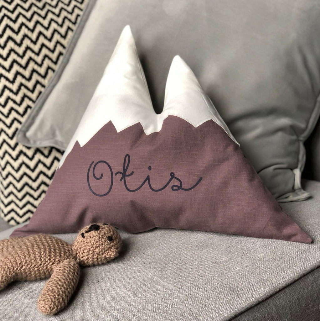 Personalised Mountain Name Cushion