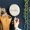 Wooden Musical Plaque Name Wall Hanging