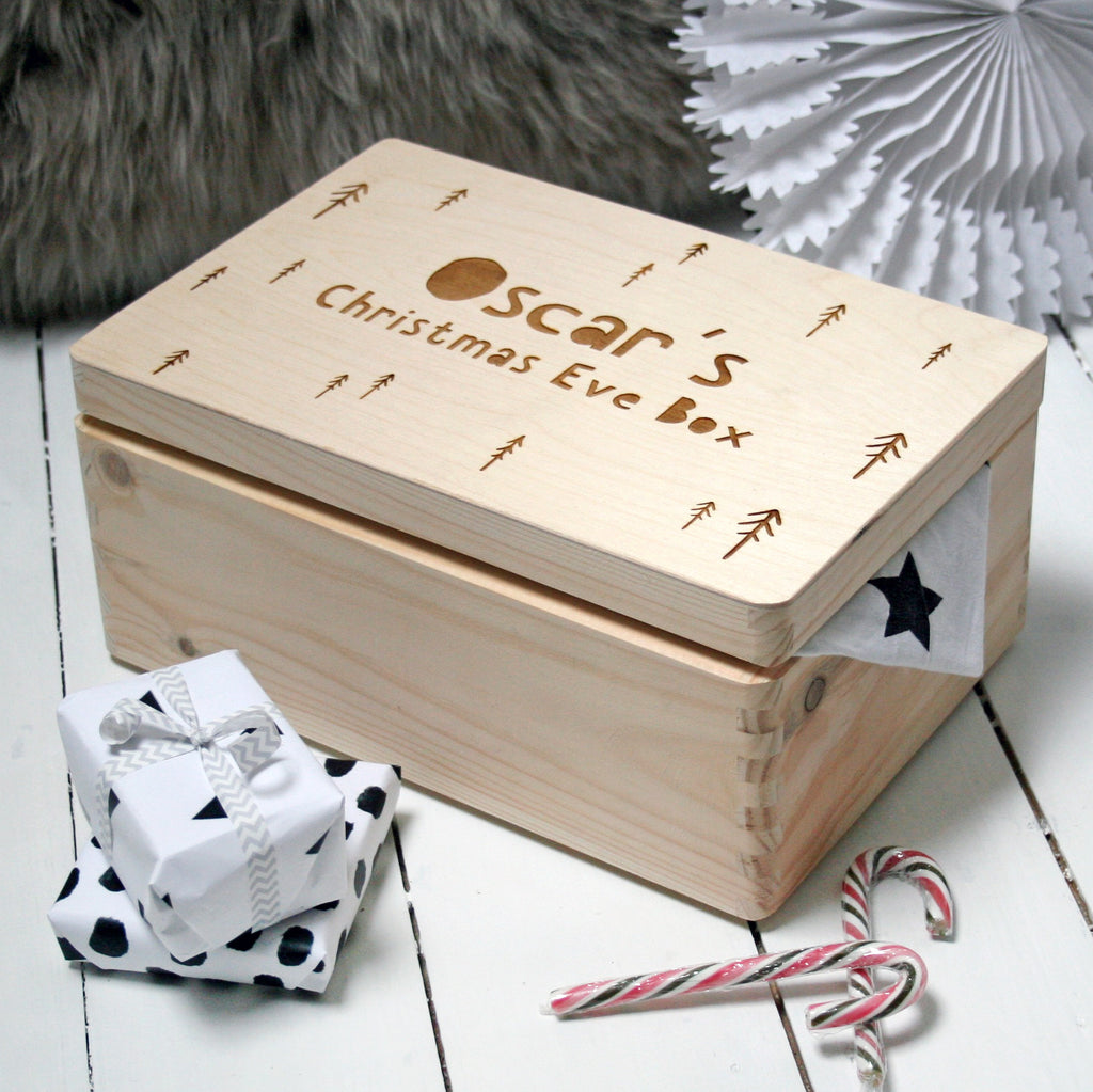Personalised Large Trees Christmas Eve Box