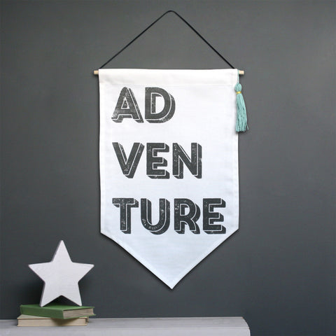 Adventure Fabric Tassel Wall Hanging
